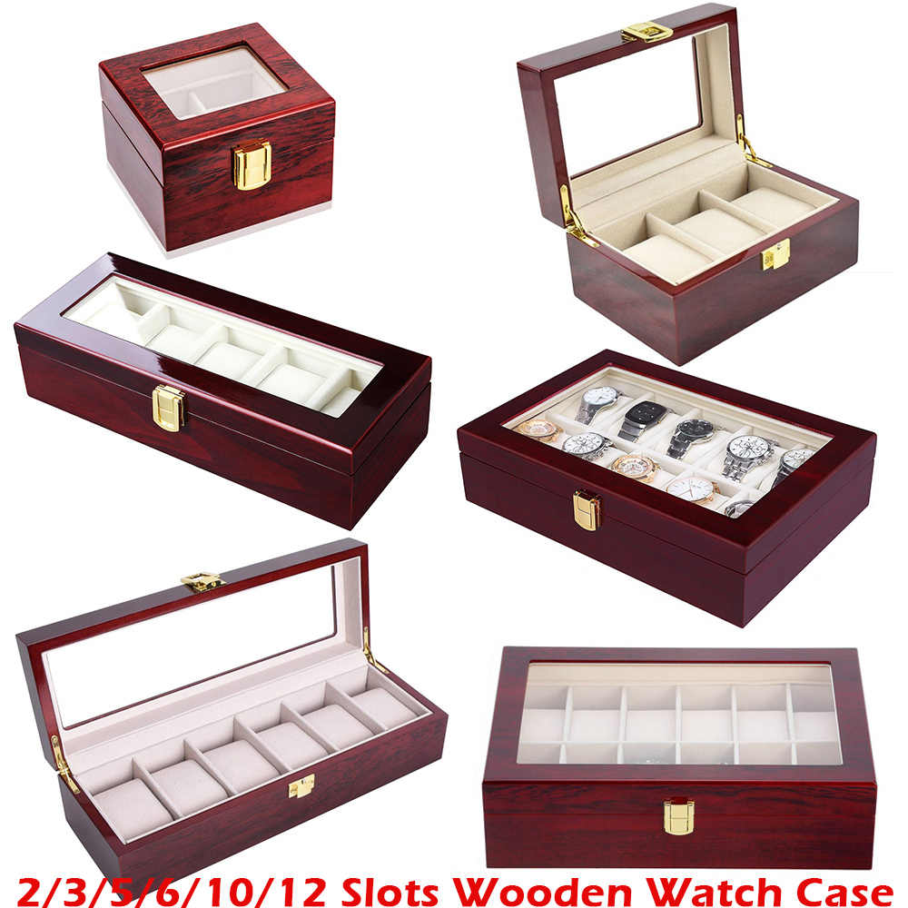Luxury 2 3 5 12 Grids PU Leather Watch Box Case Collector Holder Organizer For Clock Watches Jewelry Display Storage Boxes D40