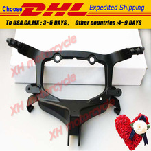 Aftermarket free shipping motorcycle parts Head Cowling Front upper fairing stay brackets for Suzuki  Hayabusa 2008-2012 BLACK