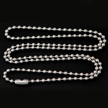 Silver Jewelry Stainless Steel 2.4mm Ball Chain Necklace for Pearl Cage lockets & oil Diffuser Locket Pendant Girl Women(China)