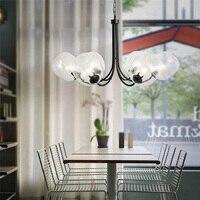 מודרני Nordic אמנות מסעדת עיצוב נקודה לבנה נברשת אהיל זכוכית מטבח אוכל בסלון אופנה lampadario luz תאורה