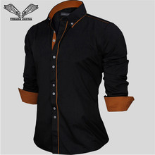Brand clothing сорочка homme европейский сплошной рукав длинный бизнес случайный рубашка