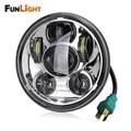 Free shipping 5.75 inch Chrome led headlight for Harley Motorcycle Headlight lighting