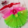 2014 fashion saia infantil summer party girls tulle dance skirts for girls tutu lot