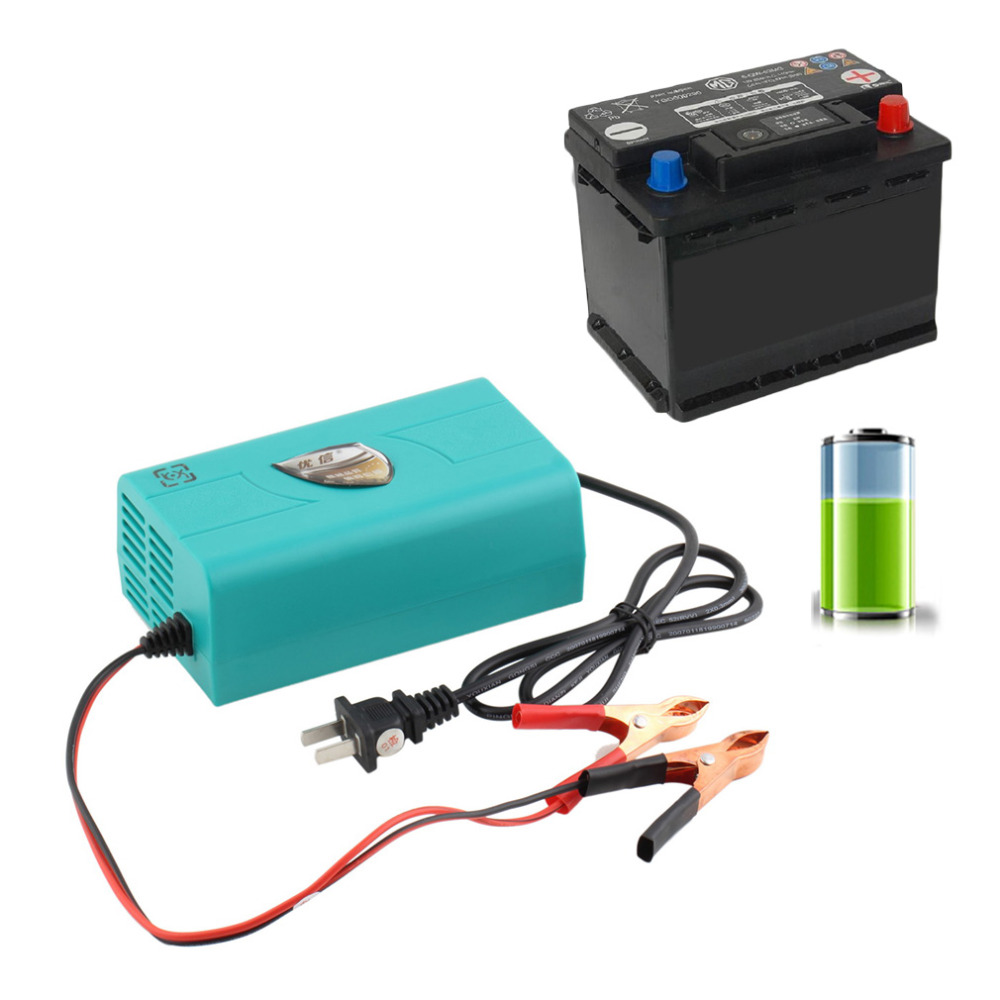 new 1pcs 12V New Car Styling Battery Charger Motorcycle Charger Intelligent Auto Charging Machine Boat Marine Maintainer Trickle