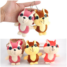 цена Big-Eyed Small Squirrel Plush Doll Small Pendant Cute Squirrel Plush Toy Key Chain Pendant Filled Dolls Wedding Bouquet Gift toy