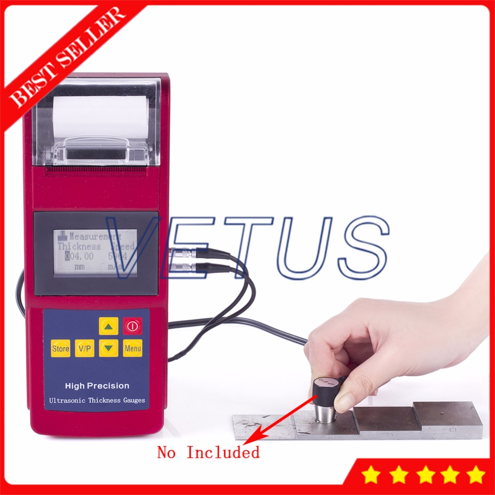 Leeb352 Built in thermal printer Ultrasonic Thickness Gauge for Metal Plastic Glass Meter Tester can storge 2000 groups