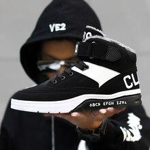 YRRFUOT Для мужчин кроссовки; зимние Бархатные Утепленная одежда спортивная обувь для ношения на улице, трендовые спортивной марки и защита от скольжения, со шнуровкой; Zapatillas