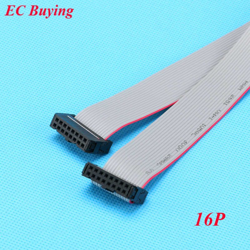 10 Pcs/lot FC-16P 2.54 Mm Pitch Jtag AVR Download Kawat Kabel Konektor Abu-abu Pita Datar Kabel Data 2X8 pin 2*8 16 PIN 30