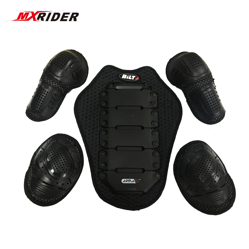 MXRIDER NEW CE protector Body Armor motorcycle jacket protective armor include 1 back pad 2 elbows/knee 2 shoulder protection