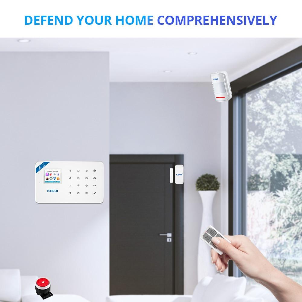 KERUI W18 Wireless WiFi GSM Alarm System Android ios APP Control home - Сигурност и защита - Снимка 3