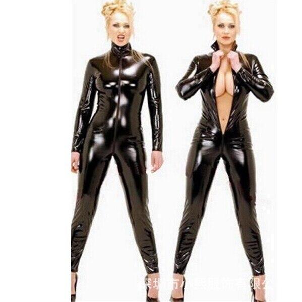 Women Men Viscose fiber Full Bodyhose Bodysuit Catsuit Jumpsuit With hood gloves