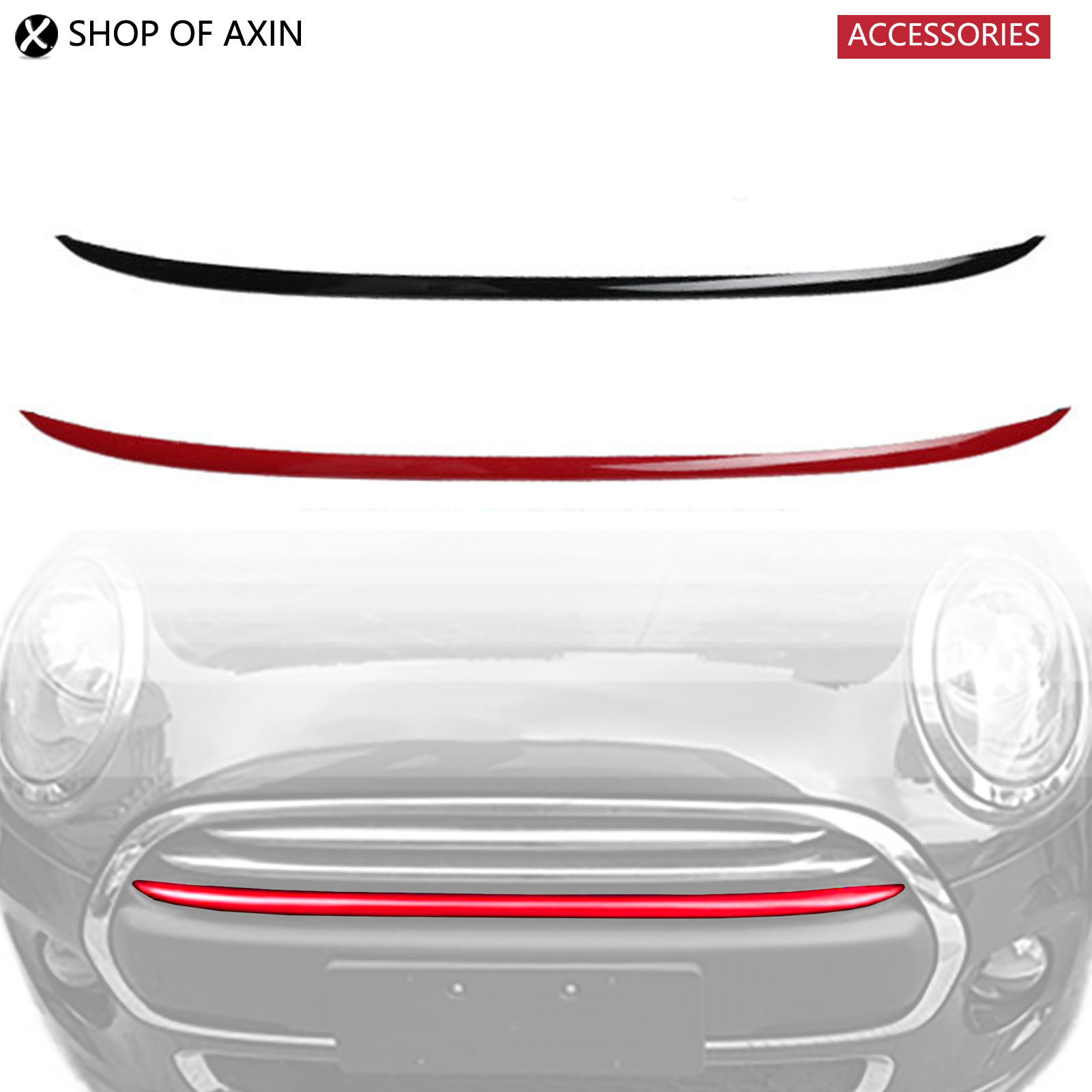 Mini Radiator Grille Bar Deco Smooth Cover For Mini Cooper Cooeper S Countryman F55 F56 R60 цена