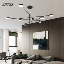 Simple post-modern style lighting restaurant bedroom creative personality rotating chandelier