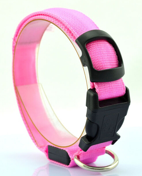 Nylon Multicolor Luminous Dog Collar
