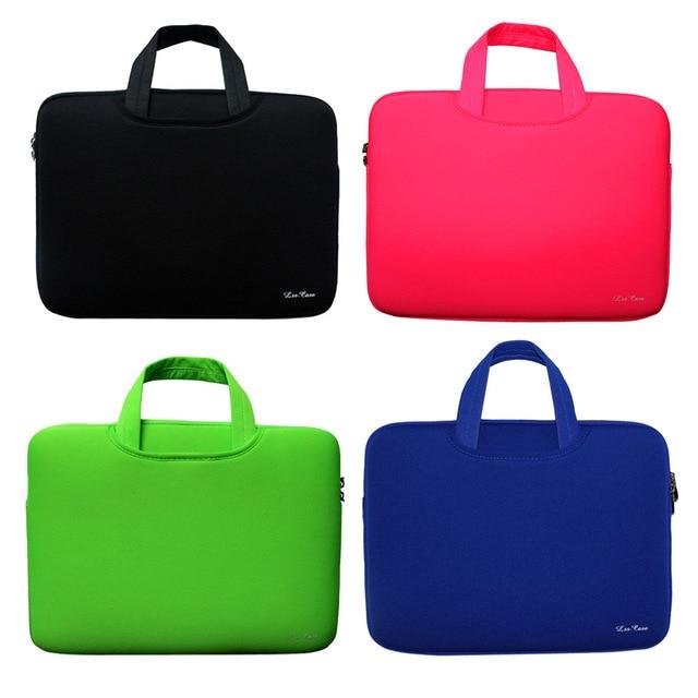 """Сумка для ноутбука 13 13.3 14 15 15.6 """"дюймовый портативный мягкий рукав handlebag сумки для ноутбуков чехол для macbook pro air ноутбук подарок ipad"""