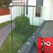 Круглое основание Крепление перила для балкона зеркало круглое из нержавеющей стали 316 огораживающее стекло для бассейна Spigot