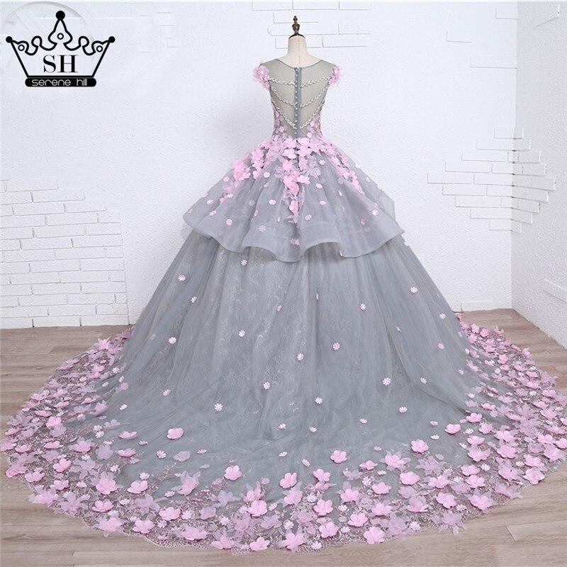 Bien-aimé Pink Flower Ball Gown Wedding Dress Bridal Dress Robe De Mariage  DV32