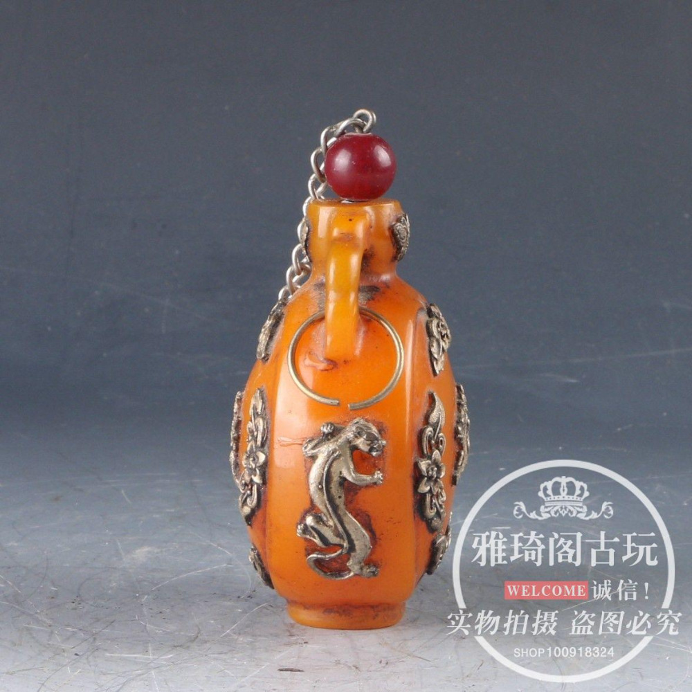 Chinese ceramics Collectible High temperature color glaze porcelain snuff Bottle