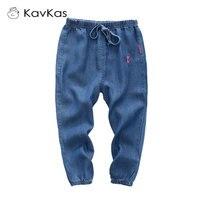 KAVKAS Baby Boys Girls Kids Denim Pants Casual Children S Jeans Kids Cute Cat Denim Trousers