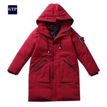 Children boy winter jacket real fur hooded long coat parka kids big school 8 10 14 15  teens boy winter clothing overcoat цена 2017