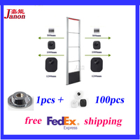 Retail Eas System Sound And LED Light Alarm System 8 2Mhz Mono Security Door Tx And