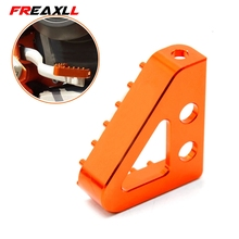 цена на Motorcycle CNC Billet Aluminum Rear Brake Pedal Step Tips For KTM EXC XC SX XCF SXF EXC-F XCF-W EXCF XCW MX 250 SMC 690 950 990