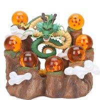 Nueva Llegada 15 cm pantalla de Dragón Shenron base base Ball Z Shenlong sótano de cristal bolas de Escenas de fondo PVC figura de acción juguete