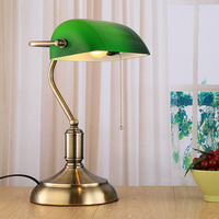 Loft Vintage Industrial Table Light Edison Desk Lamp green cover table light for Cafe Bar Bedroom Home decoration