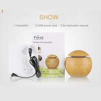 2017 New Arrival Living Room Water Bottle Sprayer USB Wood Aroma Humidifier Office Desktop Aromatherapy Machine