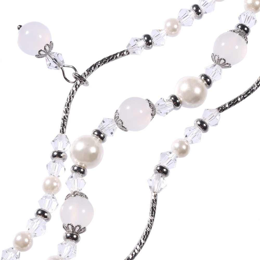 For Apple Watch Band Handmade Elastic Stretch Beaded Faux Pearl Agate Natural Stone Bracelet Strap Women Girls Series 4 3 2 1