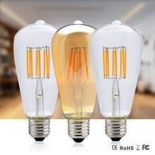Filament Edison Bulb Incandescent Lamp ST64 E27 220V 110V 4W 6W 8W Retro Lamp for Home Decorative Lighting Christmas Vintage