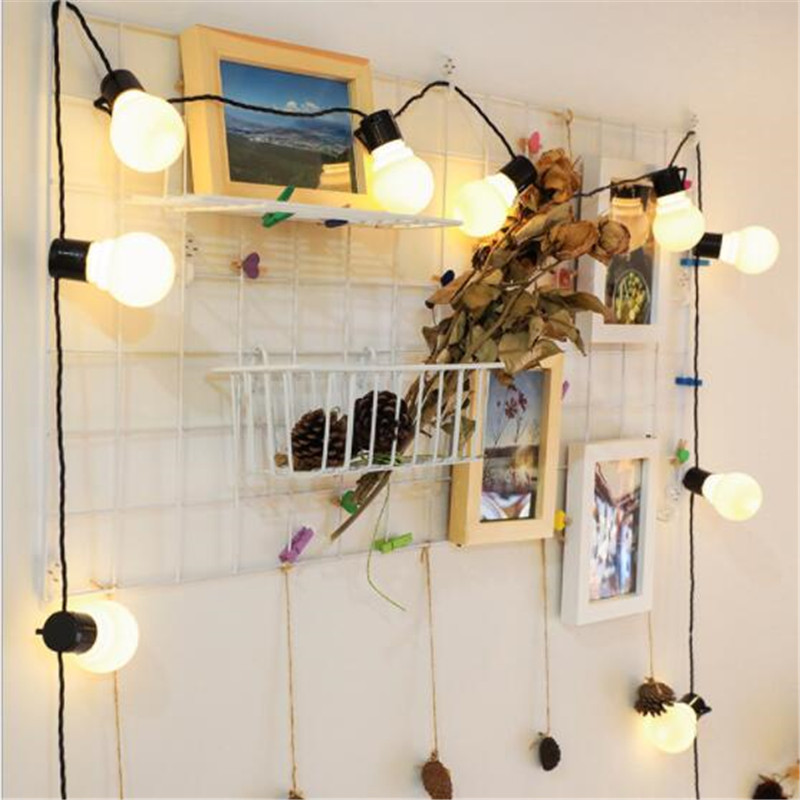 6M 3M Retro Flexible Fairy Holiday Bulb Light 20 10Leds Globe Festoon Bulb Lamp IP65 Garland Light For Xmas Party Wedding Decor