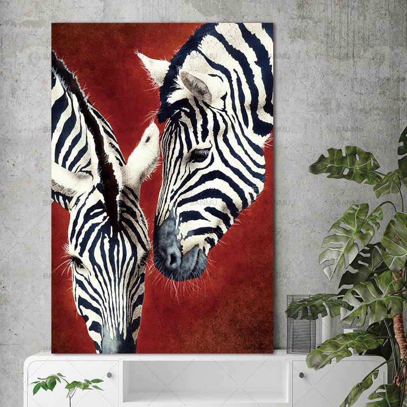 3pcs canvas painting home decor wall art living room no frame starry canvas painting wall art zebra animal nordic abstract wall picture for living room art decoration pictures altavistaventures Images