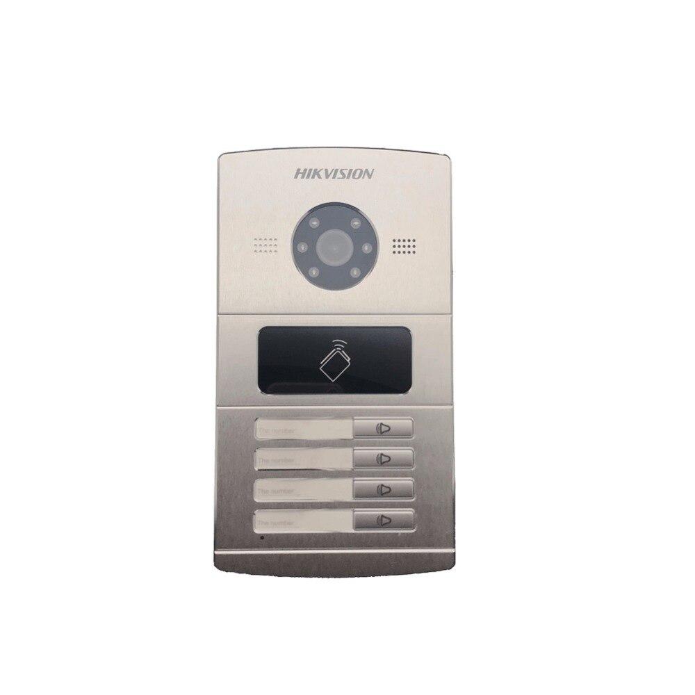 Hikvision Vidéo Contrôle D'accès DS-KV8402-IM, interphone Visuel sonnette étanche, carte à PUCE, IP filaire interphone