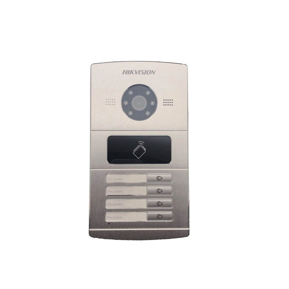 Hikvision ds Video di Controllo di Accesso DS-KV8402-IM, citofono Visivo campanello impermeabile, carta di CI, IP interfono via cavo