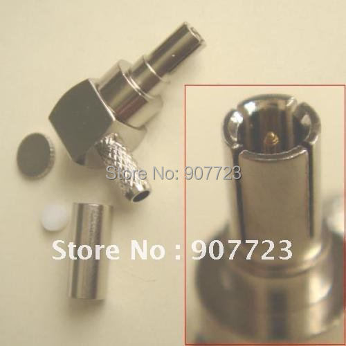 100pcs CRC9 Male Right Angle Crimp For RG174 RG188 RG316 RF Connector m378a1k43cb2 crc