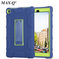 MAX-Q Case For Amazon Kindle Fire HD 8 2017 Kids Baby Safe Protect Armor Shockproof Heavy Duty Silicone +PC Kickstand Hard Cover