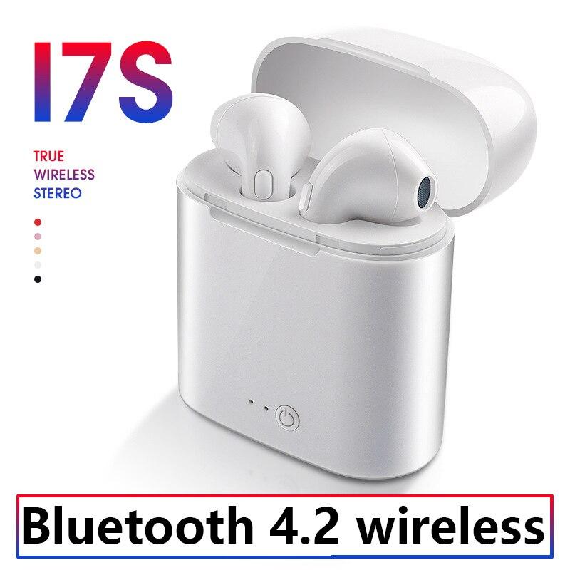I7s Tws Wireless earphones Bluetooth 4.2 Binaural Earbuds with Charging Box Mini Sports Inear Sports Earphones Apple Airpods