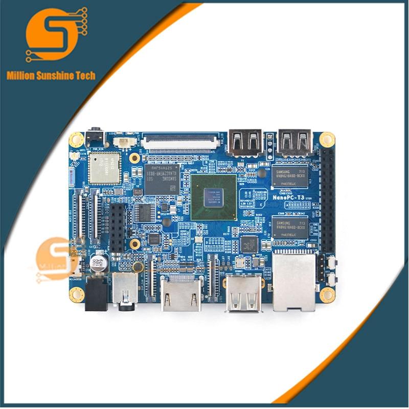 NanoPC T3 Plus Development Demo Board,S5P6818 Cortex-A53 1.4GHz+2GB DDR3+16GB eMMC, support uboot/Android/Debianv недорого
