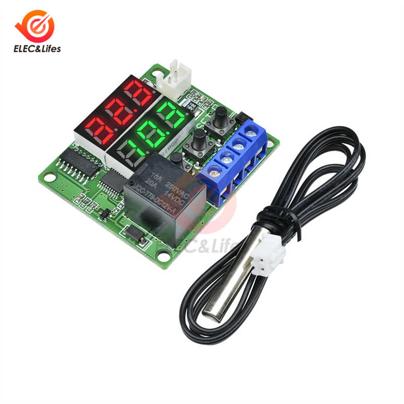 DC 12V Digital LED Thermostat Temperature Control Switch Module XH-W1209 Gut