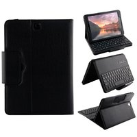 Kemile Removable Wireless Bluetooth Keyboard Portfolio Leather Stand Case Cover For Samsung Galaxy Tab S3 9