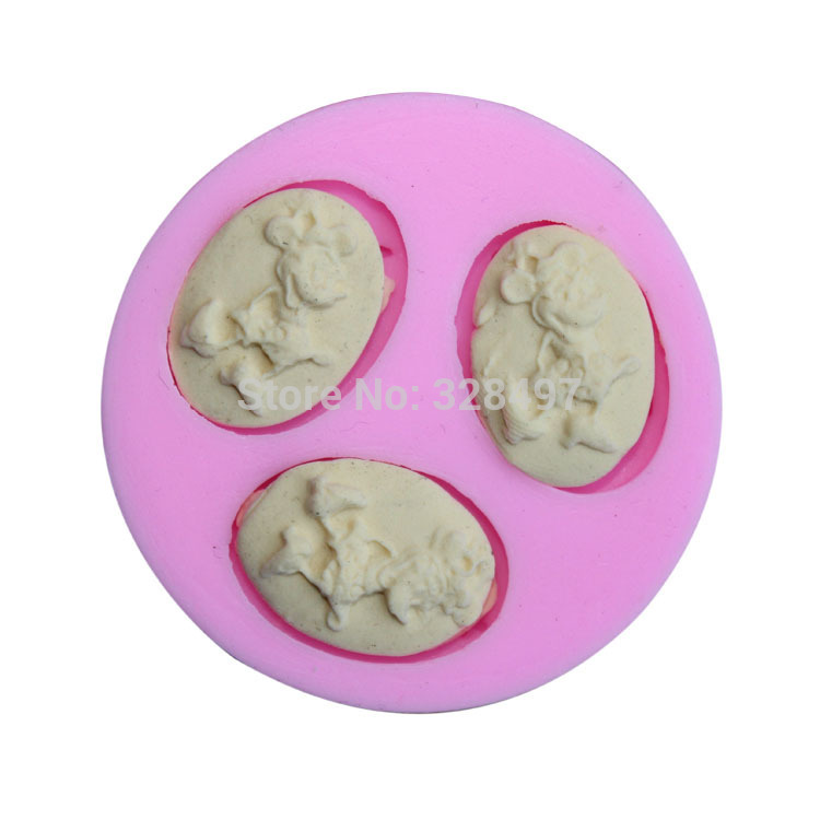 Small Size,Mic Mouse Handmade Soap Mold, 3D Silicone Cake Mold, Cartoon Figre/cake tools Soap Mold Cake Decoration G098