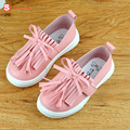 new quality cute comfortable spring girls leather baby shoes princess tassel Flats children sneakers for toddler kids trainers