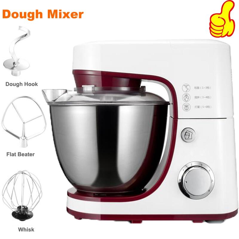 1000W Electric Dough Mixer Professional Eggs Blender 4.2L Kitchen Stand Food Milkshake/Cake Mixer Kneading Machine Dough Maker