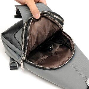 Image 4 - Brand Chest Pack Men Casual Shoulder Crossbody Bag USB Charging Chest Bag Waterproof Oxford Travel Sling Bag Messenger Bag Male