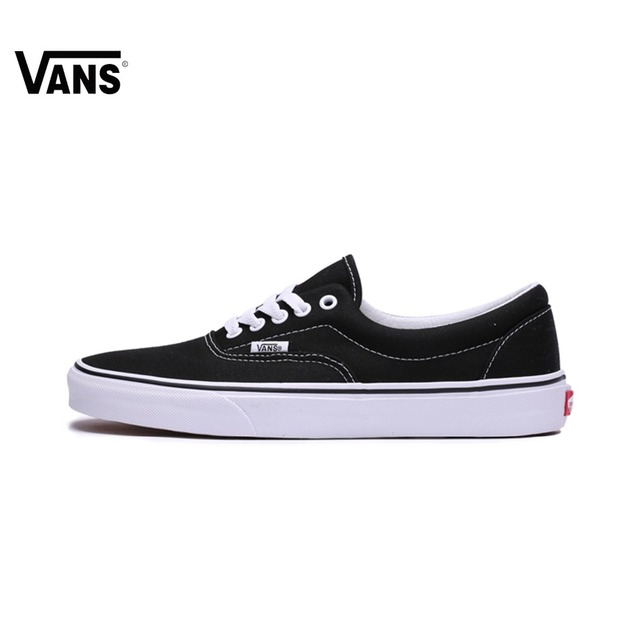 Original Vans low Era Classic Lover s Skateboarding Shoes Men s Women s  Black and White Color Canvas Shoes Authentic Sneakers 70d618a816fb