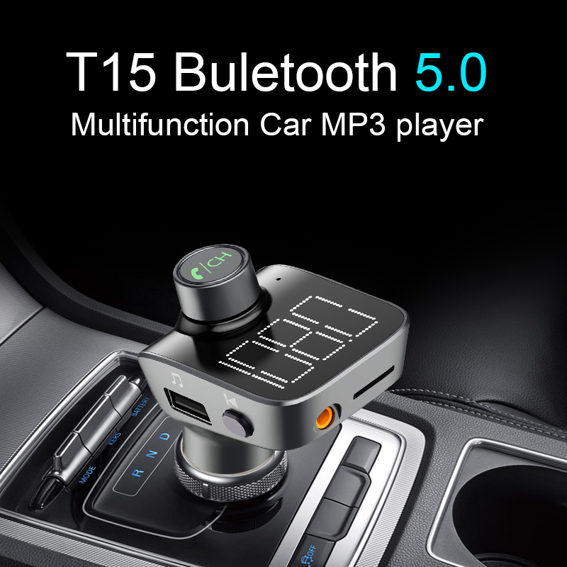 CDEN car MP3 player aux Bluetooth 5 0 FM transmitter car charger U disk lossless music play Bluetooth phone call in Car MP3 Players from Automobiles Motorcycles