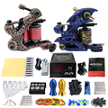 Solong Tattoo Complete Tattoo Kit 2 Pro Coil Machine Guns  Power Supply Foot Pedal Needle Grips  TK202-5