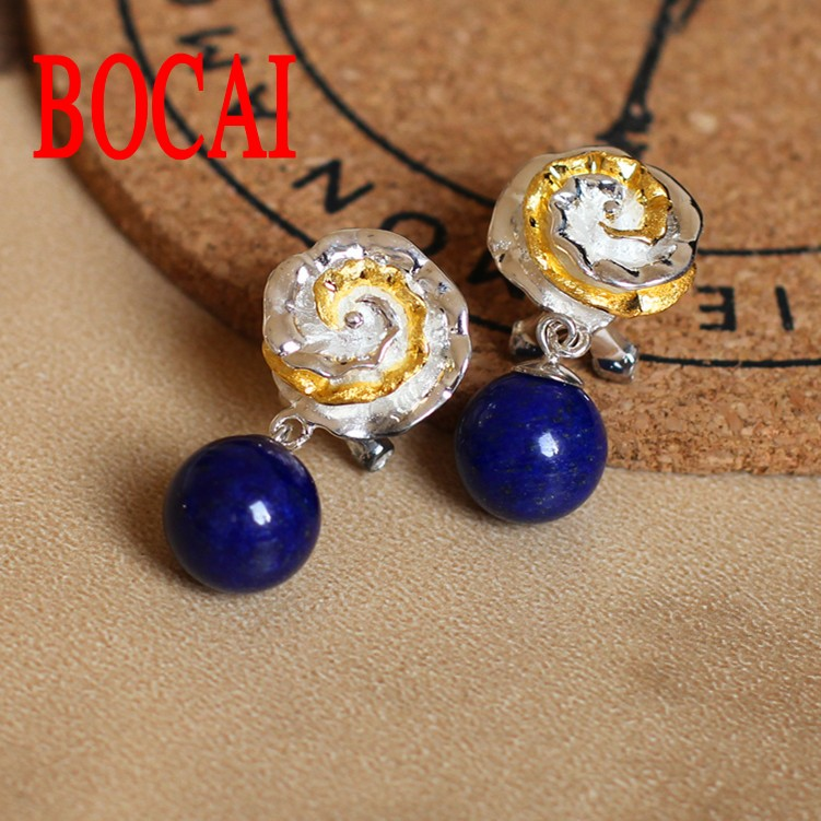 S925 sterling silver jewelry wholesale fashion exquisite gold flower green stone lady buckleS925 sterling silver jewelry wholesale fashion exquisite gold flower green stone lady buckle