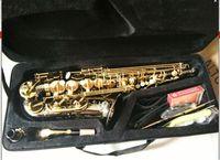 2016 Hot Selling France Salma Down E Alto Sax Black Nickel Golden Press Saxophone